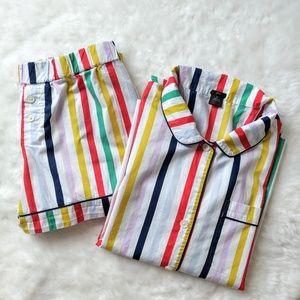J. Crew ▪ Rainbow Striped Pajamas